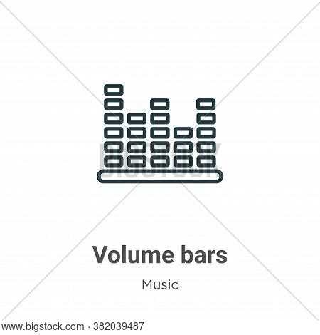 Volume bars icon isolated on white background from music collection. Volume bars icon trendy and mod