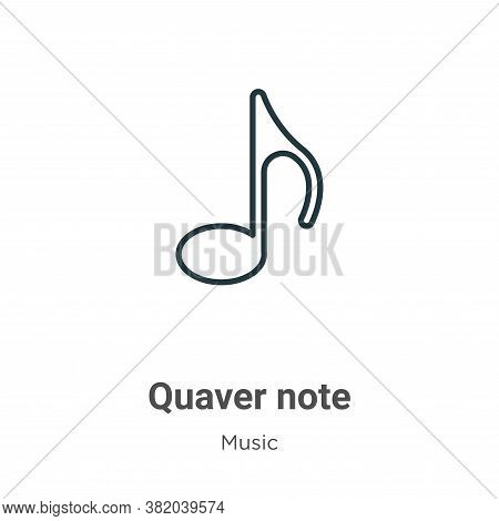 Quaver note icon isolated on white background from music collection. Quaver note icon trendy and mod