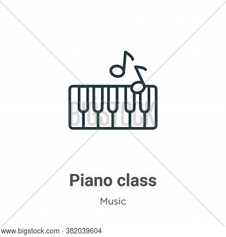 Piano class icon isolated on white background from music collection. Piano class icon trendy and mod