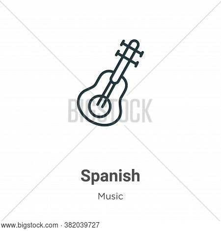 Spanish icon isolated on white background from music collection. Spanish icon trendy and modern Span
