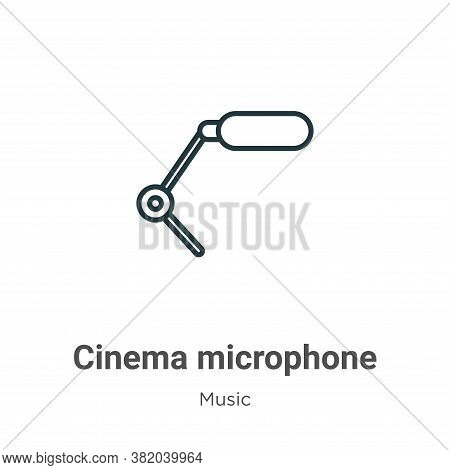 Cinema microphone icon isolated on white background from music collection. Cinema microphone icon tr