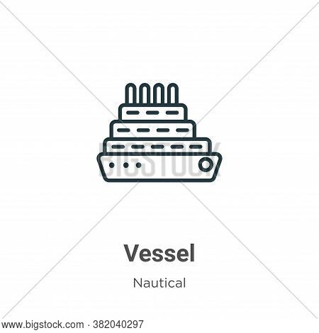 Vessel icon isolated on white background from nautical collection. Vessel icon trendy and modern Ves