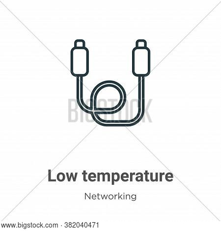 Low temperature icon isolated on white background from networking collection. Low temperature icon t