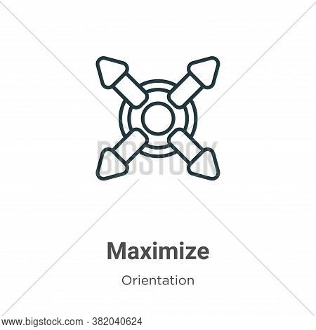 Maximize icon isolated on white background from orientation collection. Maximize icon trendy and mod