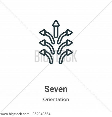 Seven icon isolated on white background from orientation collection. Seven icon trendy and modern Se