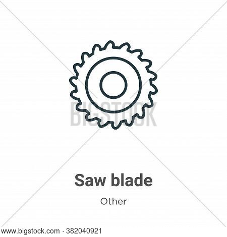 Saw blade icon isolated on white background from other collection. Saw blade icon trendy and modern