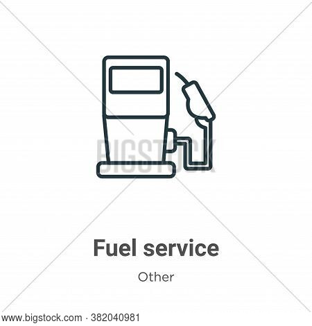 Fuel service icon isolated on white background from other collection. Fuel service icon trendy and m