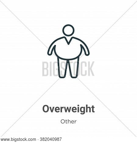 Overweight icon isolated on white background from other collection. Overweight icon trendy and moder