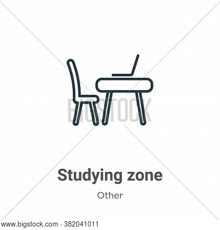 Studying zone icon isolated on white background from other collection. Studying zone icon trendy and