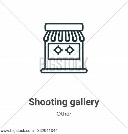Shooting gallery icon isolated on white background from other collection. Shooting gallery icon tren