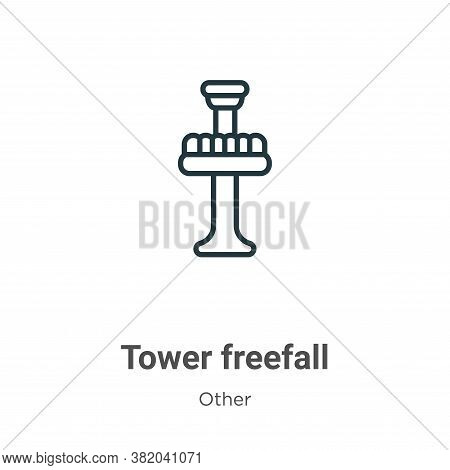 Tower freefall icon isolated on white background from other collection. Tower freefall icon trendy a