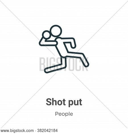 Shot put icon isolated on white background from people collection. Shot put icon trendy and modern S