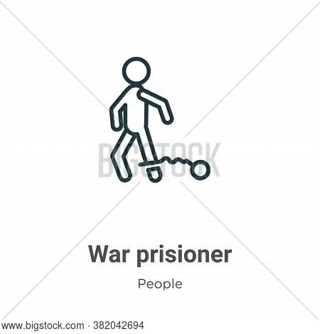 War prisioner icon isolated on white background from people collection. War prisioner icon trendy an