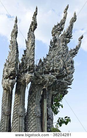 Thai Naga, Dragon With 5 Heads