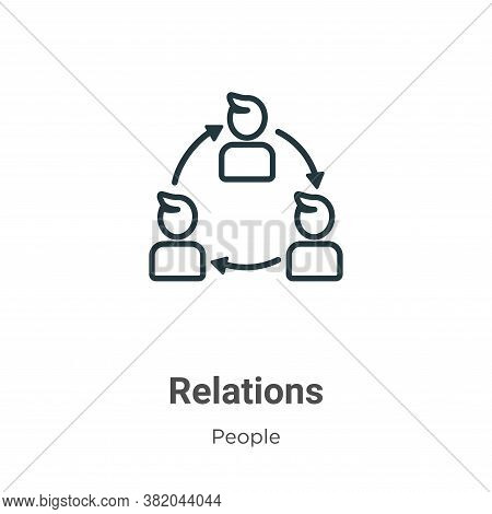 Relations icon isolated on white background from people collection. Relations icon trendy and modern