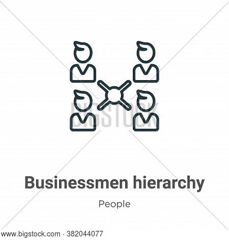 Businessmen hierarchy icon isolated on white background from people collection. Businessmen hierarch