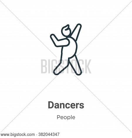 Dancers icon isolated on white background from people collection. Dancers icon trendy and modern Dan