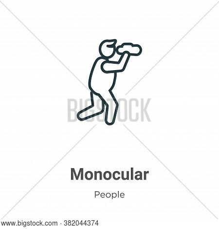 Monocular Icon From People Collection Isolated On White Background.
