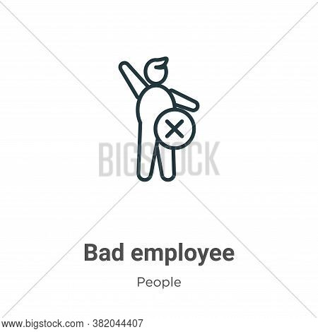Bad employee icon isolated on white background from people collection. Bad employee icon trendy and
