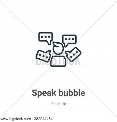 Speak bubble icon isolated on white background from people collection. Speak bubble icon trendy and