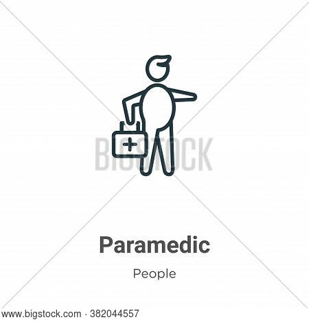 Paramedic icon isolated on white background from people collection. Paramedic icon trendy and modern