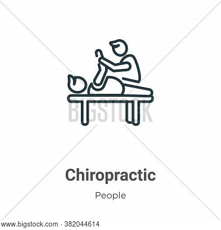 Chiropractic icon isolated on white background from people collection. Chiropractic icon trendy and