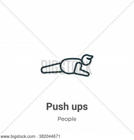 Push ups icon isolated on white background from people collection. Push ups icon trendy and modern P