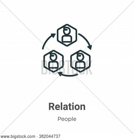 Relation icon isolated on white background from people collection. Relation icon trendy and modern R