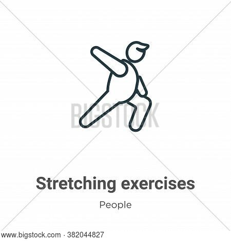 Stretching exercises icon isolated on white background from people collection. Stretching exercises