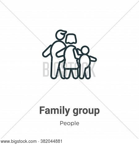 Family group icon isolated on white background from people collection. Family group icon trendy and