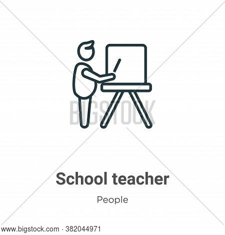 School teacher icon isolated on white background from people collection. School teacher icon trendy