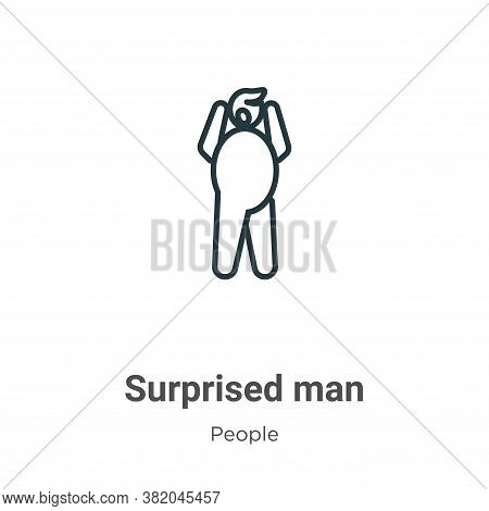 Surprised man icon isolated on white background from people collection. Surprised man icon trendy an