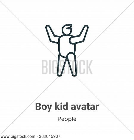 Boy kid avatar icon isolated on white background from people collection. Boy kid avatar icon trendy