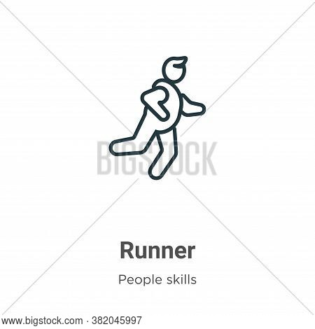 Runner icon isolated on white background from people skills collection. Runner icon trendy and moder
