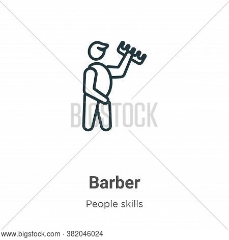 Barber icon isolated on white background from people skills collection. Barber icon trendy and moder