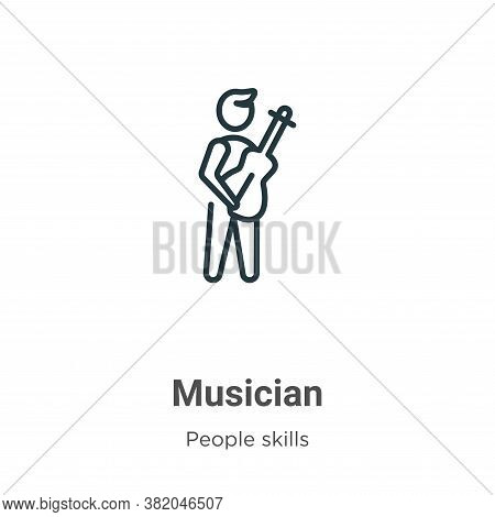 Musician icon isolated on white background from people skills collection. Musician icon trendy and m