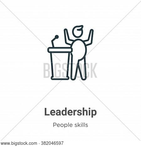 Leadership icon isolated on white background from people skills collection. Leadership icon trendy a