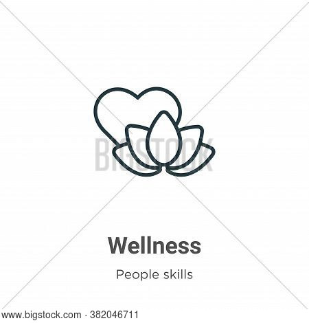 Wellness icon isolated on white background from people skills collection. Wellness icon trendy and m