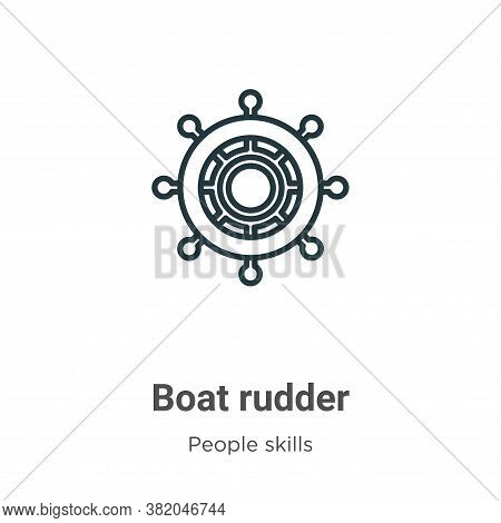 Boat rudder icon isolated on white background from people skills collection. Boat rudder icon trendy