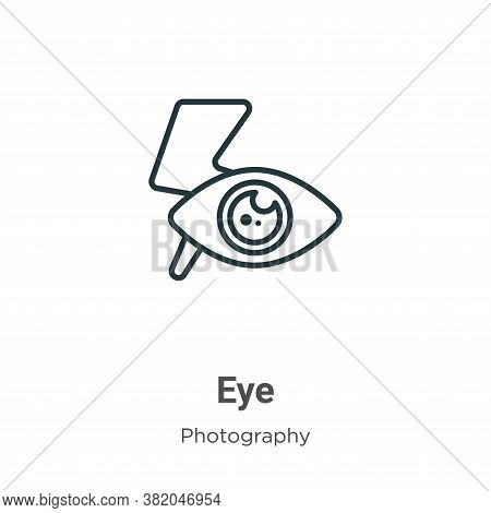 Red eye icon isolated on white background from photography collection. Red eye icon trendy and moder
