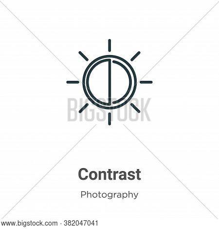 Contrast icon isolated on white background from photography collection. Contrast icon trendy and mod