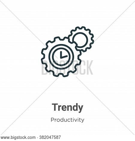 Trendy icon isolated on white background from productivity collection. Trendy icon trendy and modern
