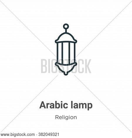 Arabic lamp icon isolated on white background from religion collection. Arabic lamp icon trendy and