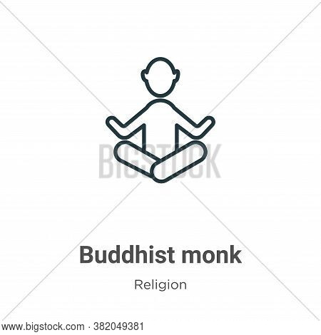 Buddhist monk icon isolated on white background from religion collection. Buddhist monk icon trendy