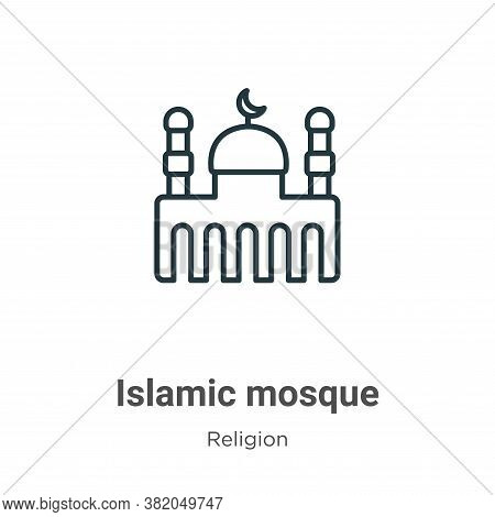 Islamic mosque icon isolated on white background from religion collection. Islamic mosque icon trend