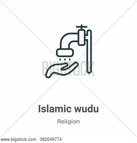 Islamic wudu icon isolated on white background from religion collection. Islamic wudu icon trendy an