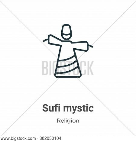 Sufi mystic icon isolated on white background from religion collection. Sufi mystic icon trendy and