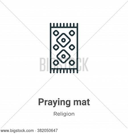 Praying mat icon isolated on white background from religion collection. Praying mat icon trendy and