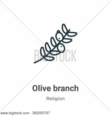 Olive branch icon isolated on white background from religion collection. Olive branch icon trendy an