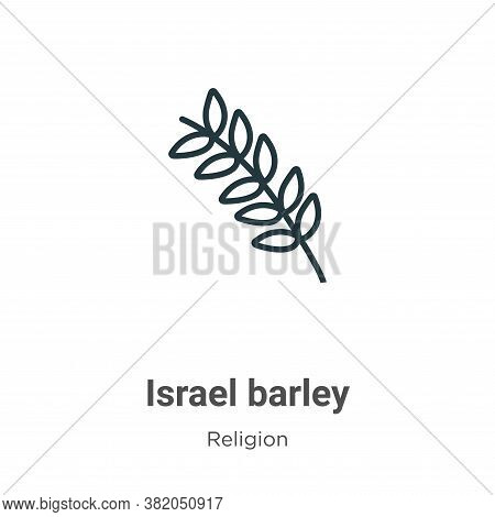 Israel barley icon isolated on white background from religion collection. Israel barley icon trendy